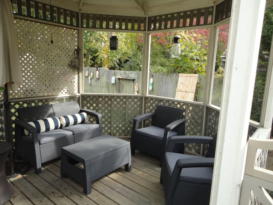 Gazebo perfect for relaxing, reading, conversations, a glass of wine...