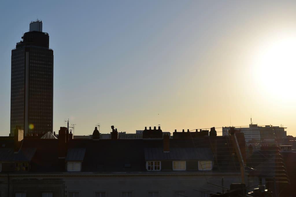 Vue sur la Tour de Bretagne