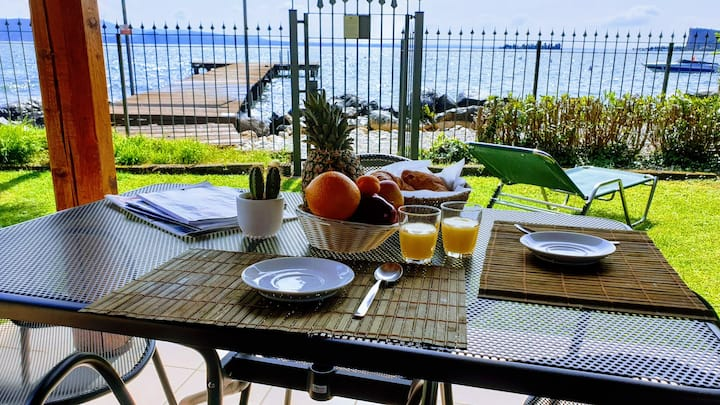 Chalet Rio1-garden and private access to the beach