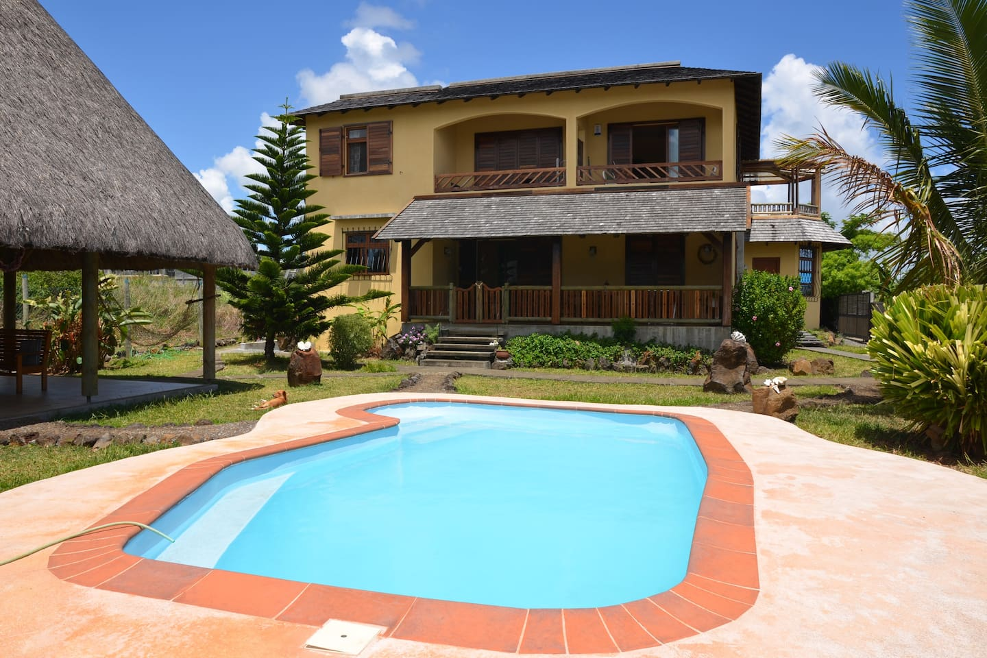 Front house and swimming pool