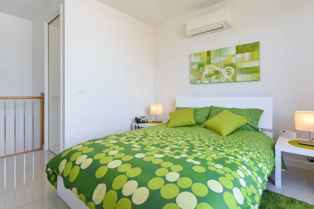 Bedroom suite is fully air conditioned for all year comfort.