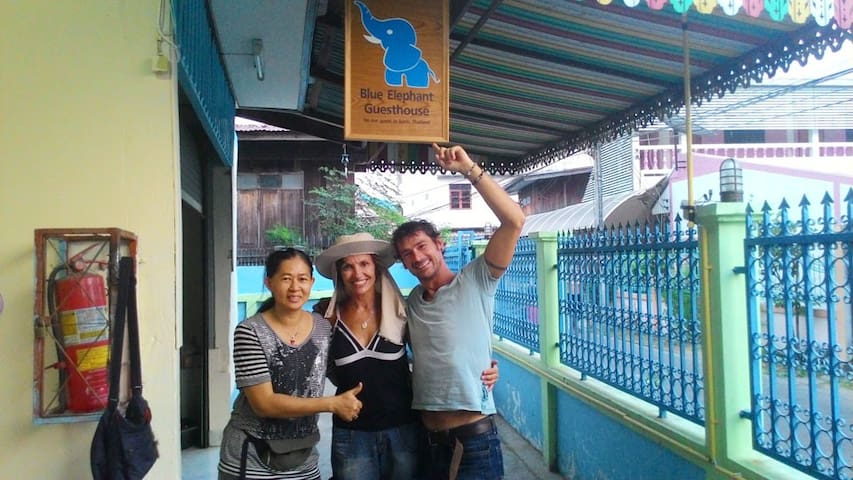 Friendship never end here at Blue Elephant Guesthouse