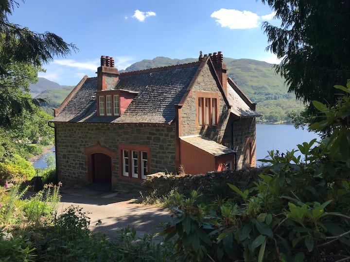 House on the Loch, Perthshire, Scottish Highlands