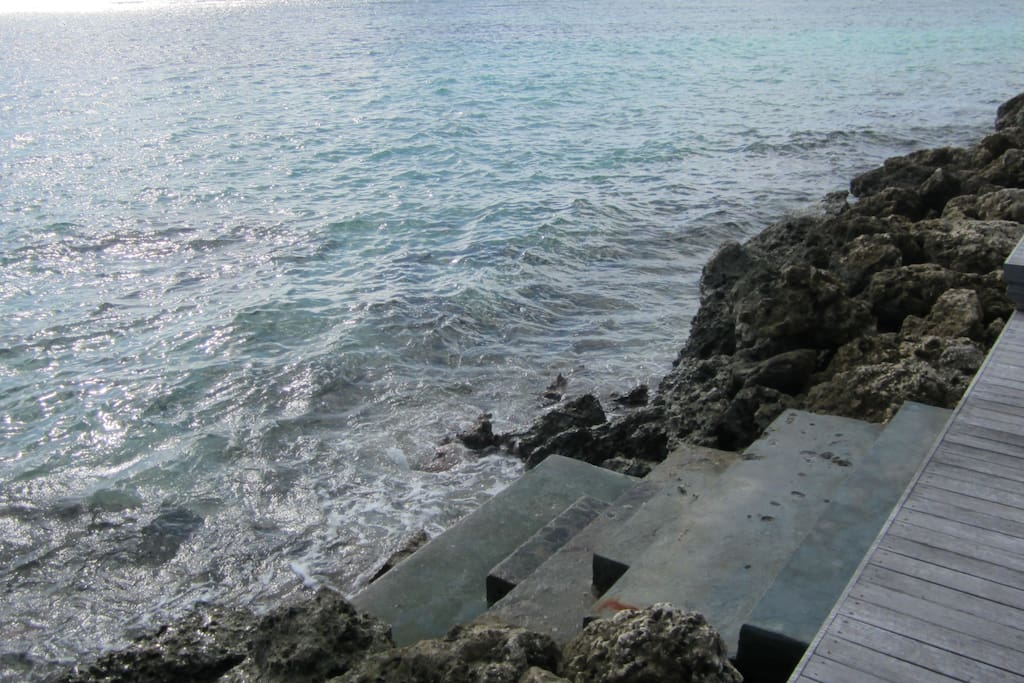 Accès privé au lagon