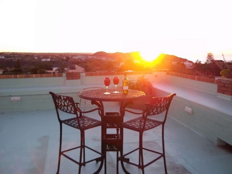Sunrise from the rooftop