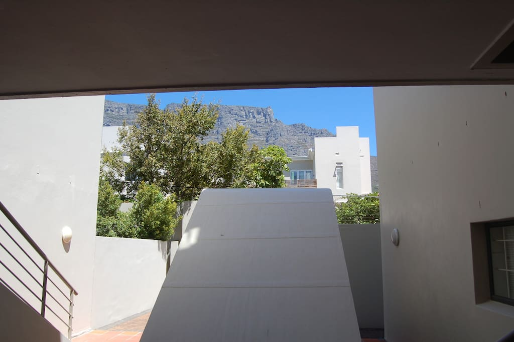 View of Table Mountain from our back door