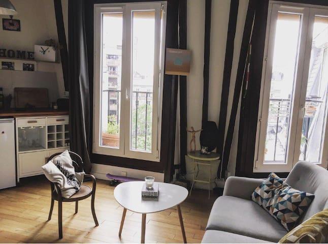 Appartement cosy sur les toits de Paris