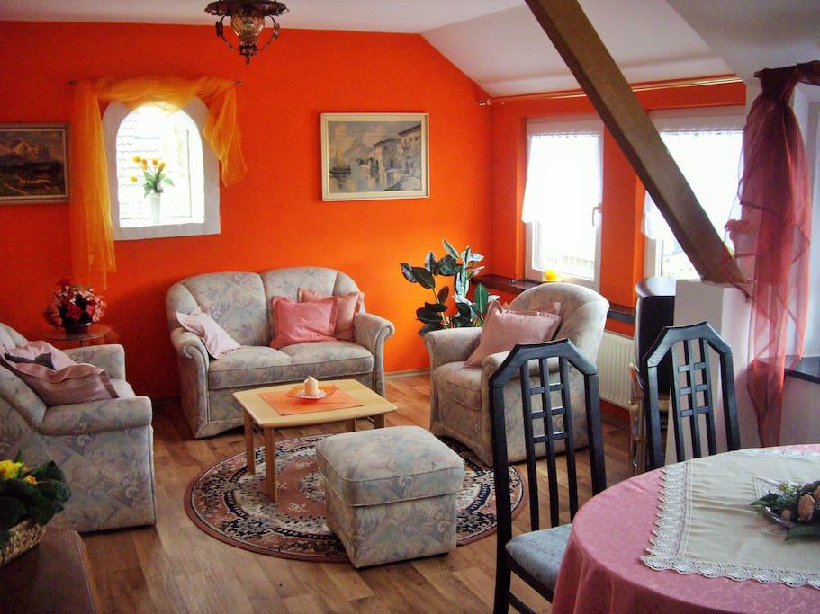Wohnzimmer mit tollem Weitblick
