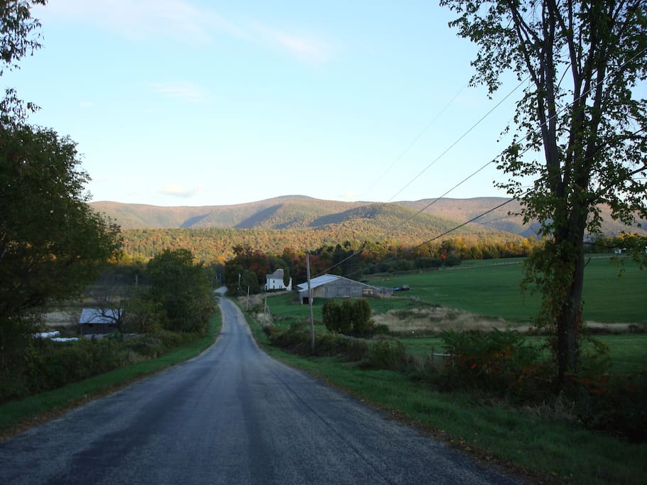 View of Mt.Greylock from our road