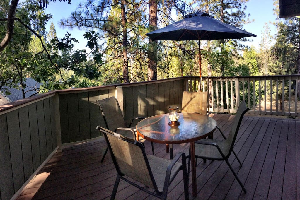 The private deck for you to enjoy.