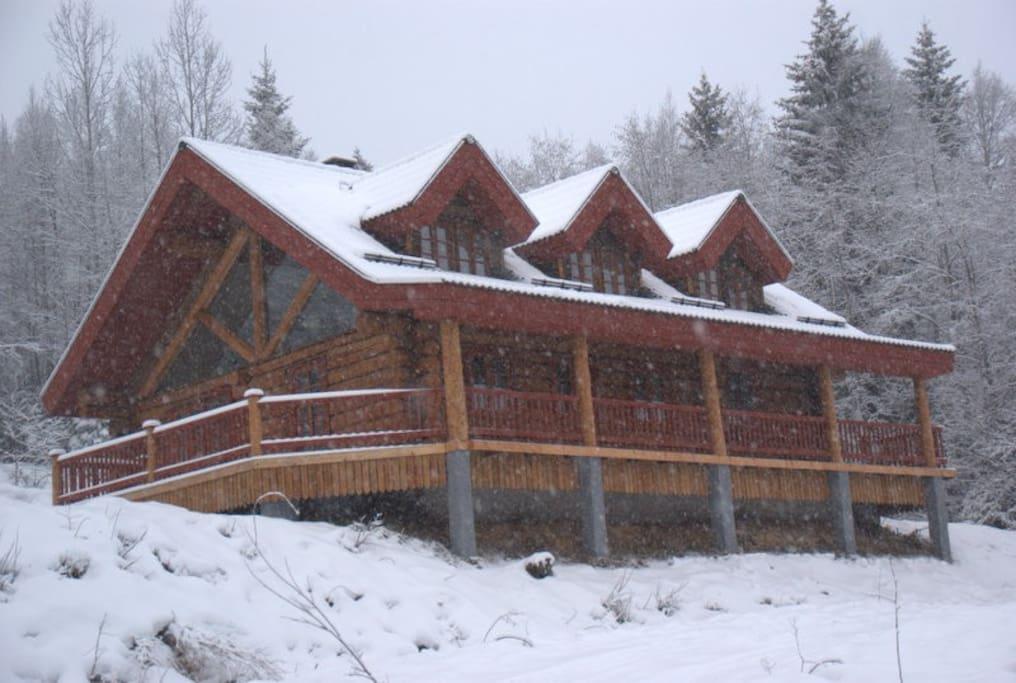 Huset set från vägen