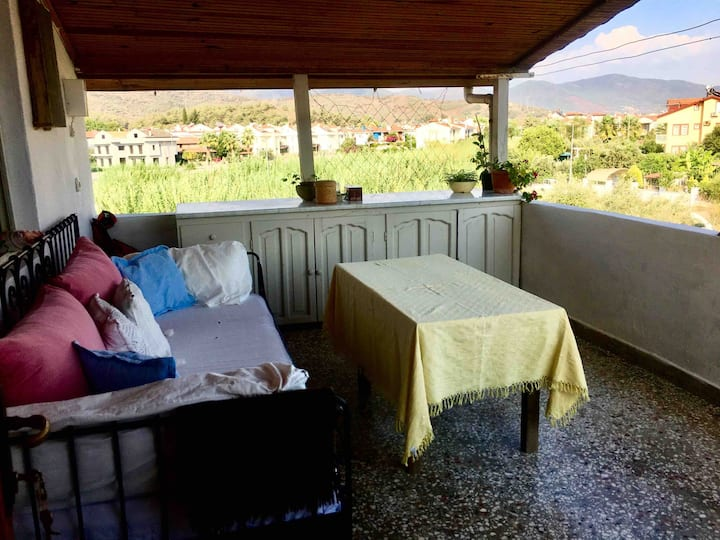Cozy Loft with 2 balcony 1 km From Çalış Beach