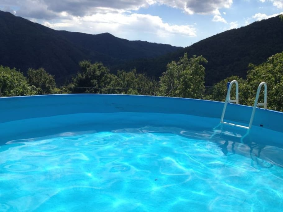 Pool with View Over Valley