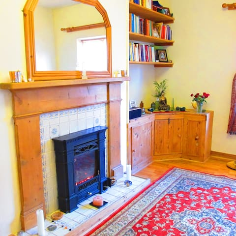 Space to relax, read or meditate. Browse through the books or sit with the oracle cards.