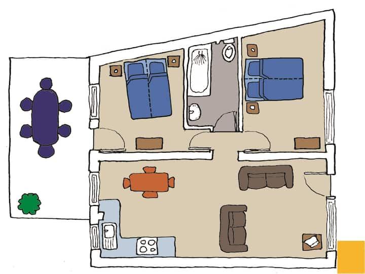 The Warren apartment ground floor