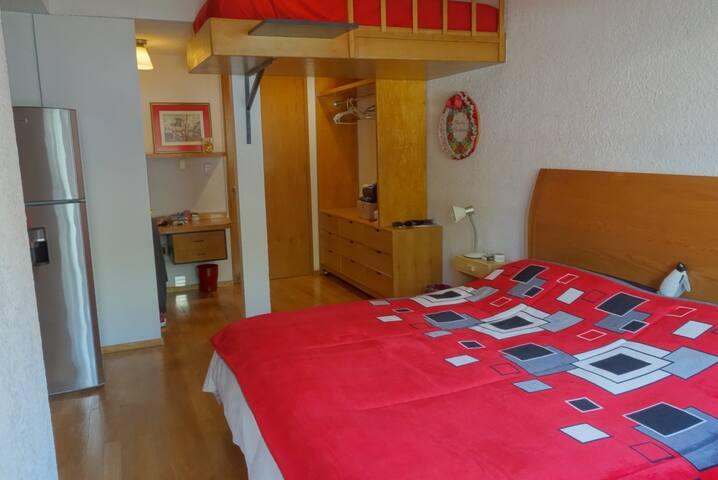 Hermosa suite con balcón en San Angel