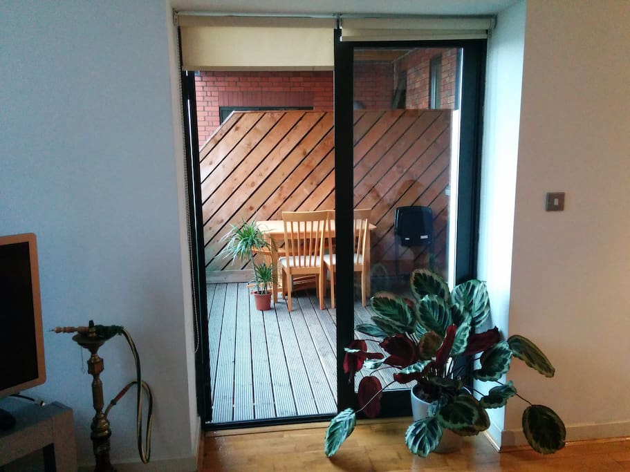 French doors open to your very own terrace!