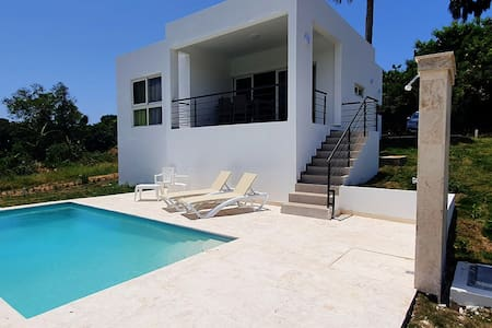 2 bedroom villa with pool, close to Cabarete