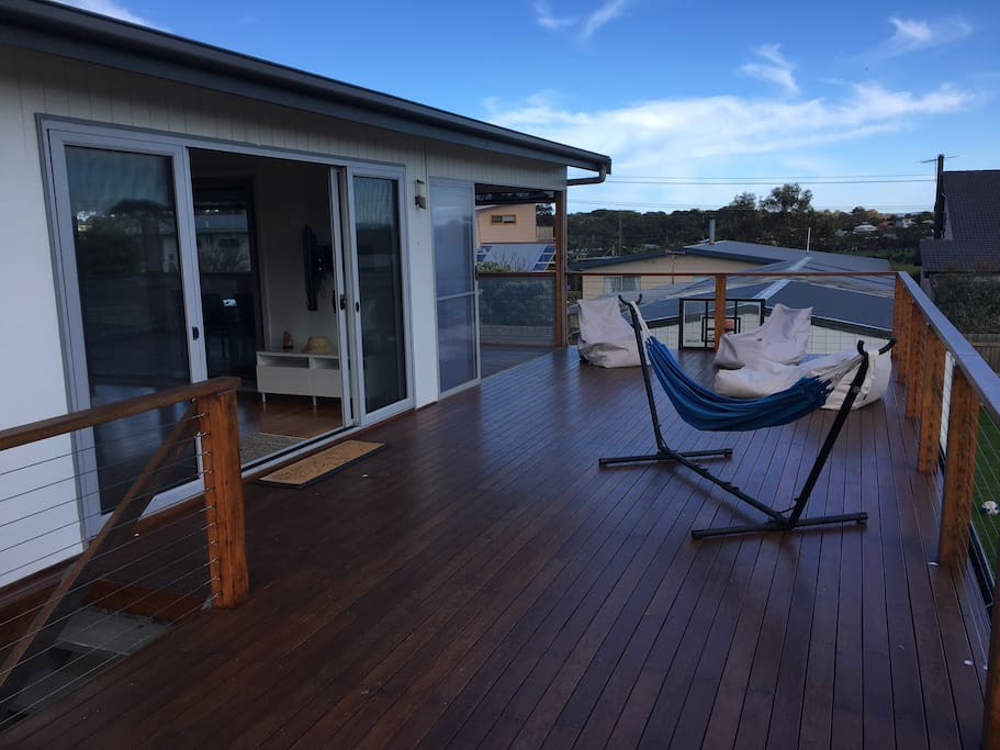 Large decking to soak up the sun