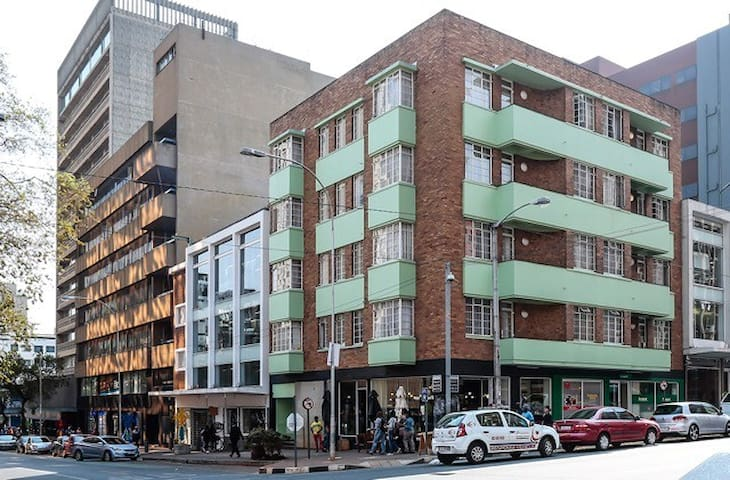 Peppermint house. The heart of braamfontein.