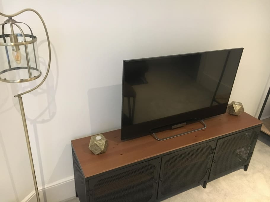 Living Room / Bedroom 3 - 42 inch HD Smart TV and sofa bed (slightly smaller than a double when in use)