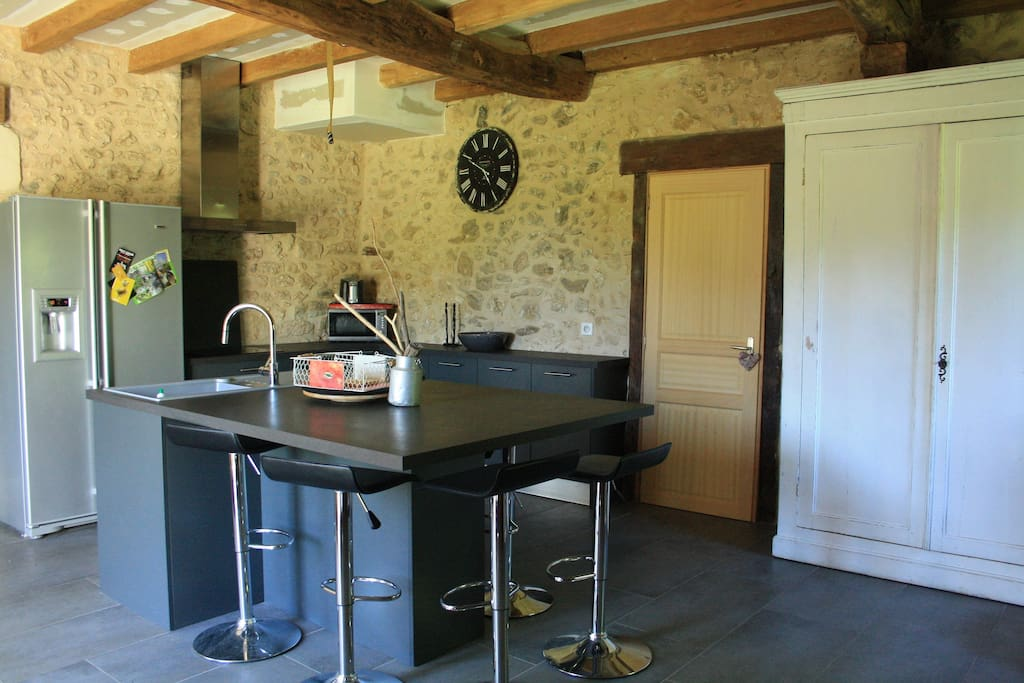 Maison de campagne 25 mn bergerac houses for rent in bourgnac aquitaine france - Banquette coin repas ...