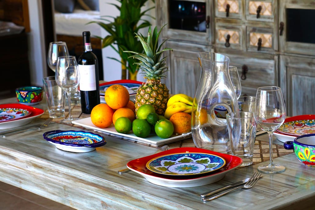 Luxury is in the Details: Artistic and Top Quality Dishes, Glasses, Utensils, etc.