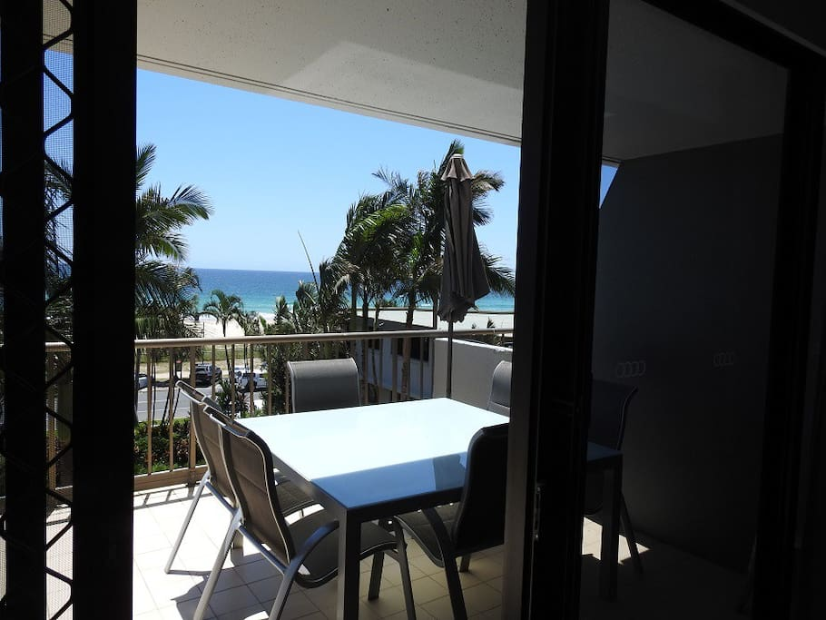 Large Balcony overlooking ocean