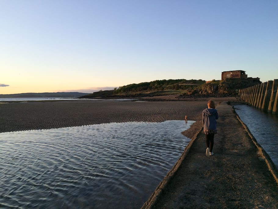 Take a stroll down to Cramond Island when the tide is out
