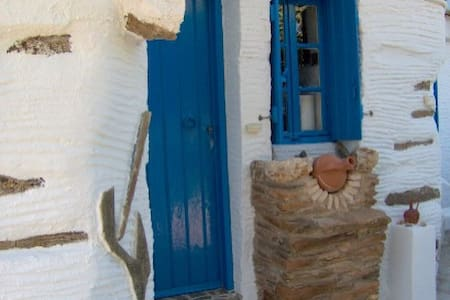 traditional old stone house andros  - Ydrousa