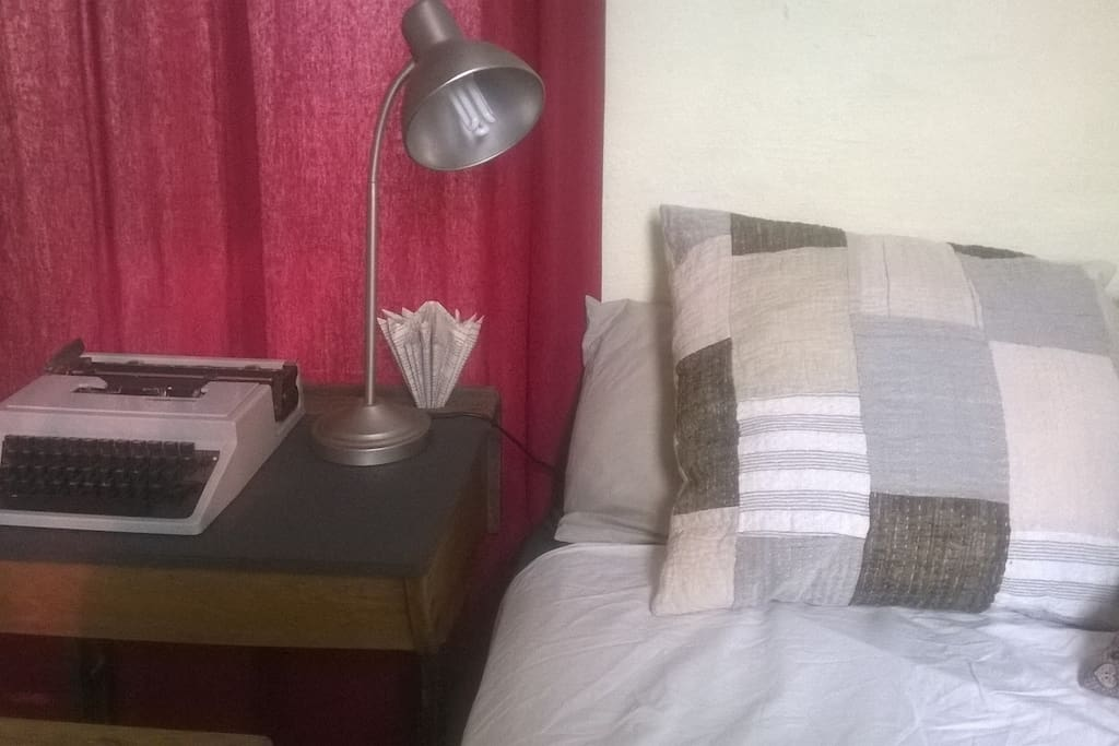 Double bed in bedroom upstairs. Linen provided.