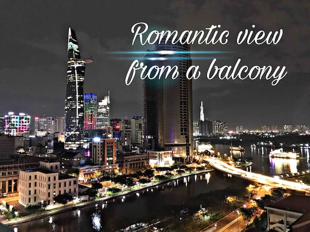 Romantic view from balcony