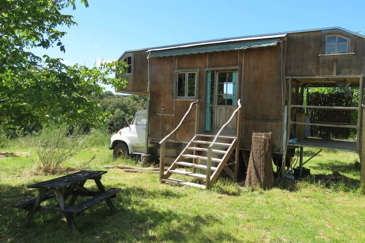 Beautiful, hand-built, wooden house truck - Motueka Valley