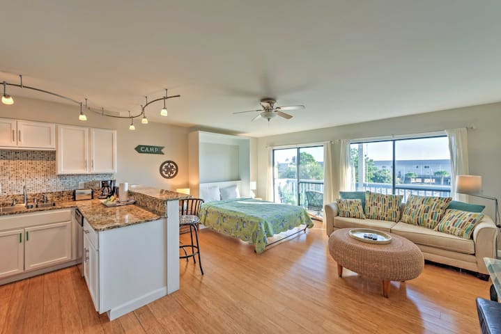The bright and inviting interior boasts a bathroom and sleeping for 4 guests.