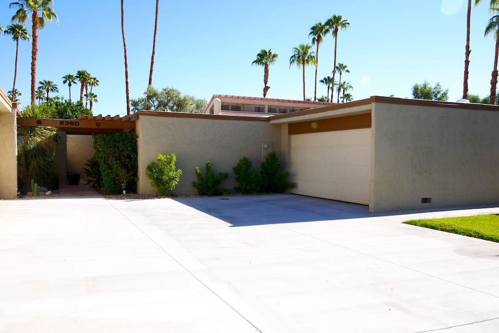 Two car garage, private gated community