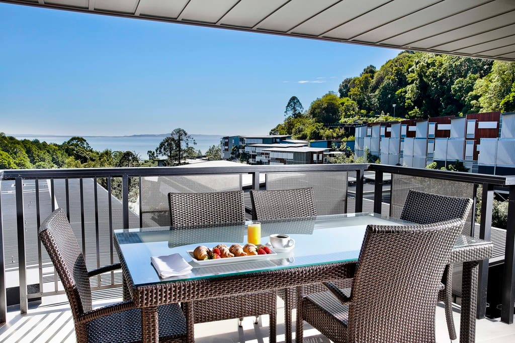 Penthouse Balcony Dining - Please be advised that Peppers Noosa Resort & Villas is a full service hotel. The photos provided showcase our style and service culture, however your apartment may differ in exact position, layout or view.
