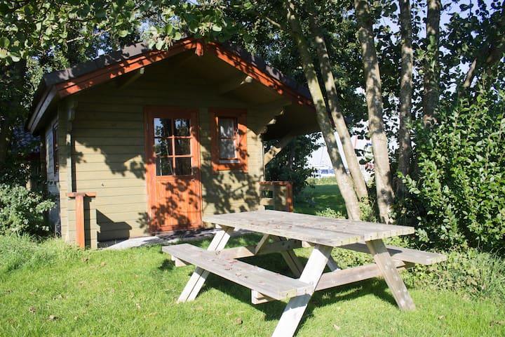 """Wooden cabin #11 at """"Het Veerse Meer"""""""