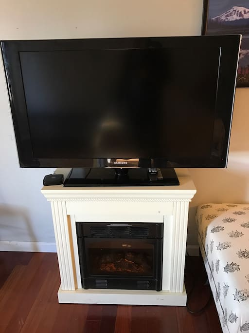 We just got a bigger TV for the apartment. Watch all the Netflix and HBO you want from the comfort of your bed!