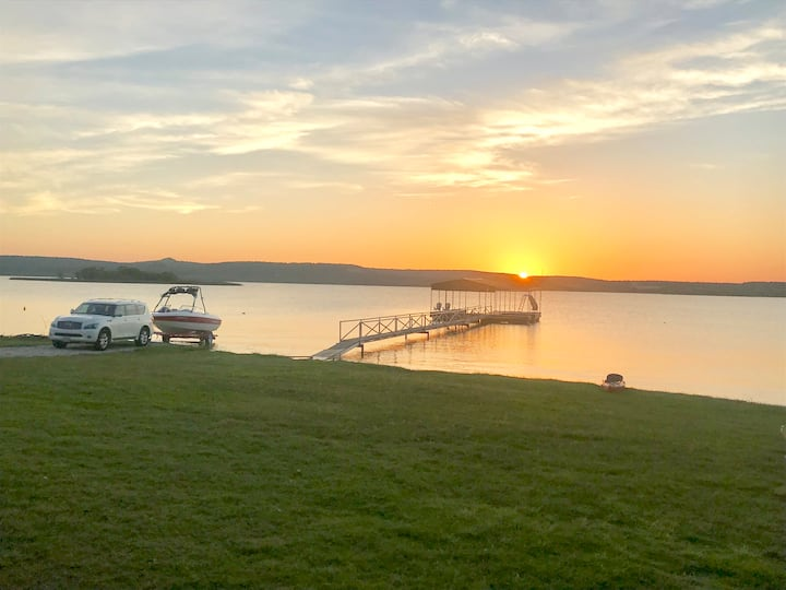 PK Cabin with private Boat Ramp, Dock and Sunsets!