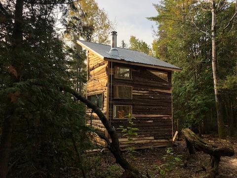 Handgebaute Hütte auf der Insel Manitoulin