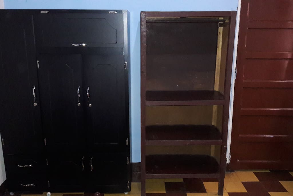 The room has two closets for your comfort.