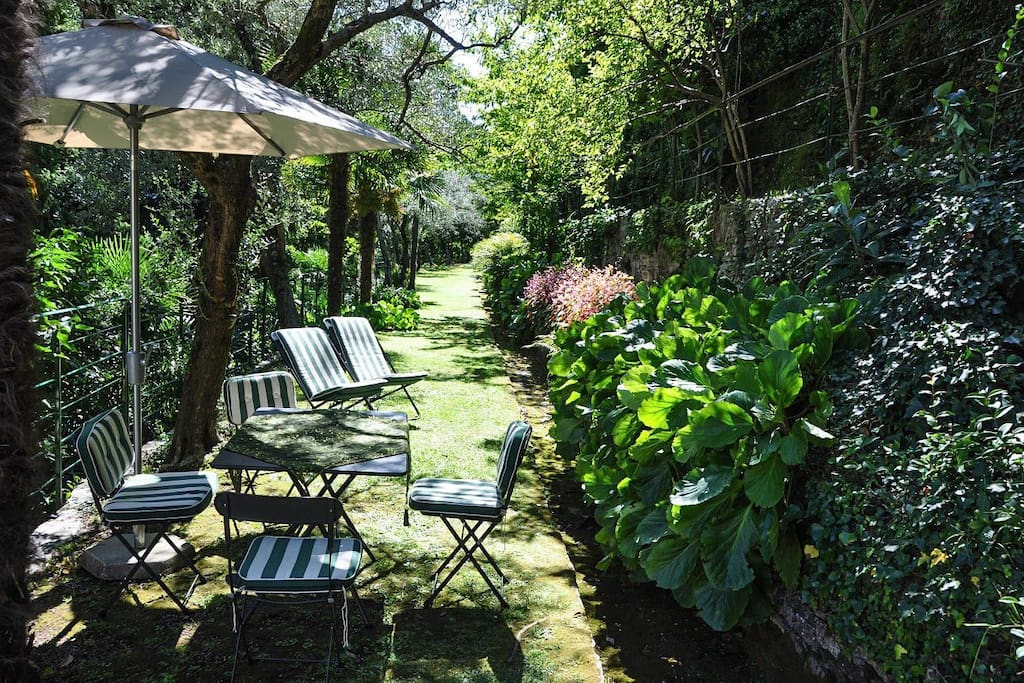 private area in the garden for the Garden House