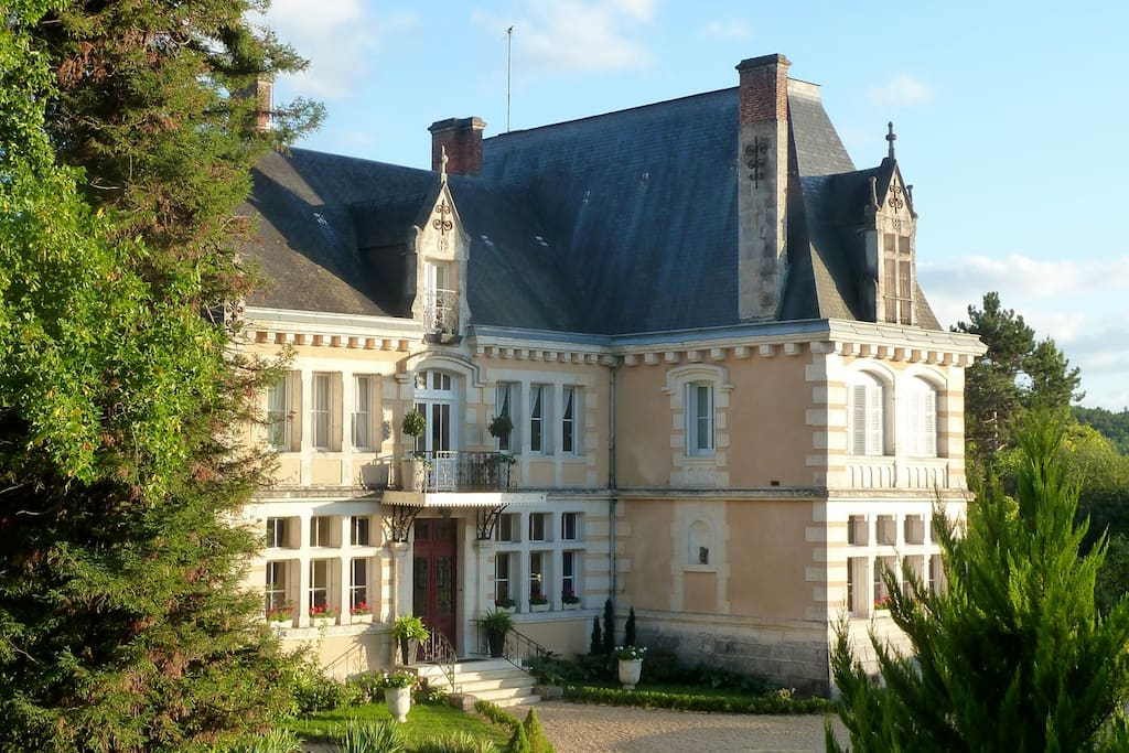 Chateau de Villars, situated in the countryside of the Perigord Vert of the northern Dordogne.