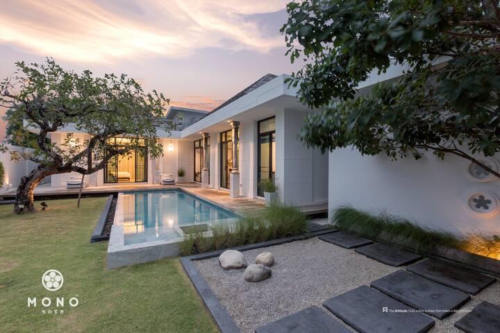 海边栈桥旁的日式3卧大泳池花园独栋别墅 Top Japanese style pool villa