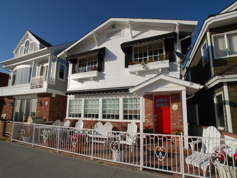 Lovely two-story single family home on the boardwalk 5 blocks from the Balboa Pier.