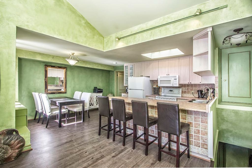 open kitchen, large countertop space!