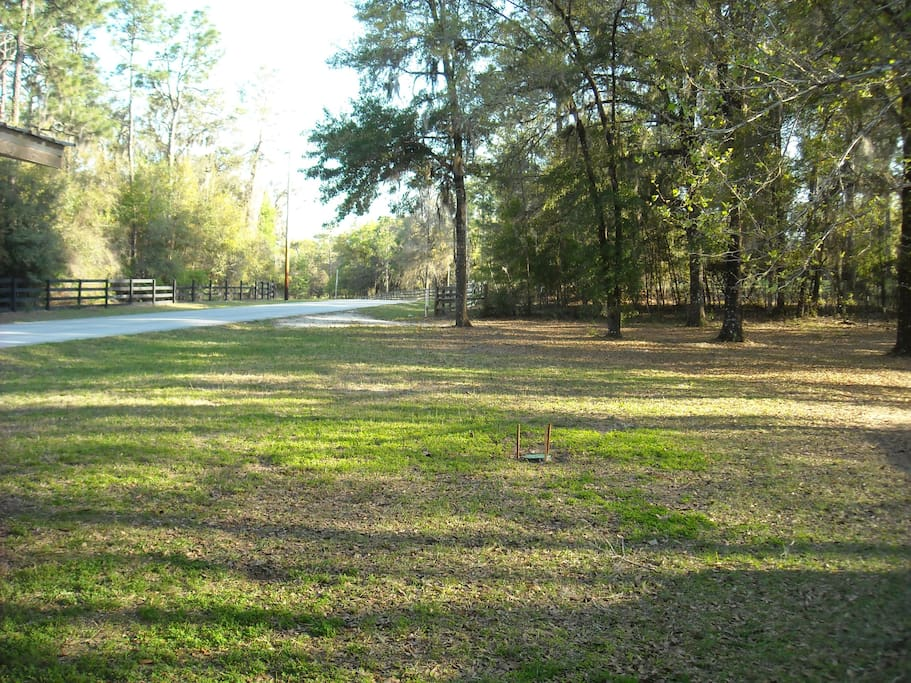 A private setting in the forests of Dunnellon, abundant riding trails nearby.