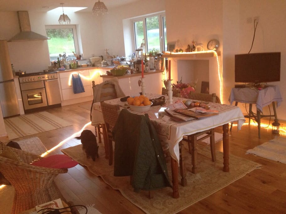 the kitchen dining area and hub of the house :)