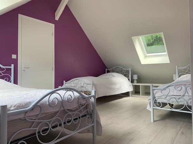 Chambre à 3 lits