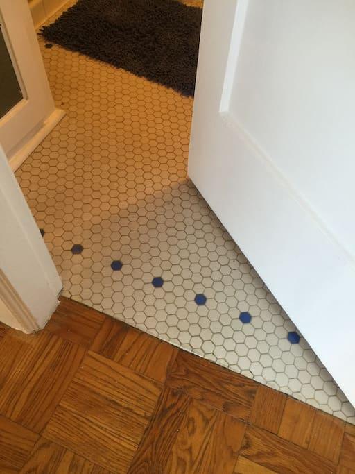 Original subway tiling